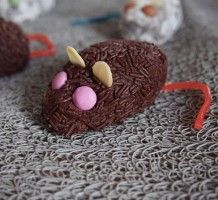 Souris chocolat/biscuits