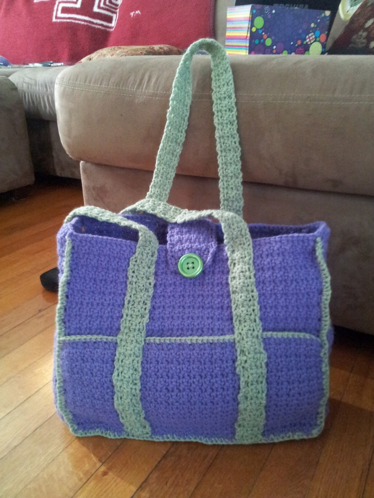 8 Best Diaper Bag Images On Pinterest Crochet Tote Crocheted Bags