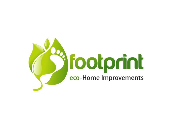 Footprint Logo Design. Eco Home Improvements.