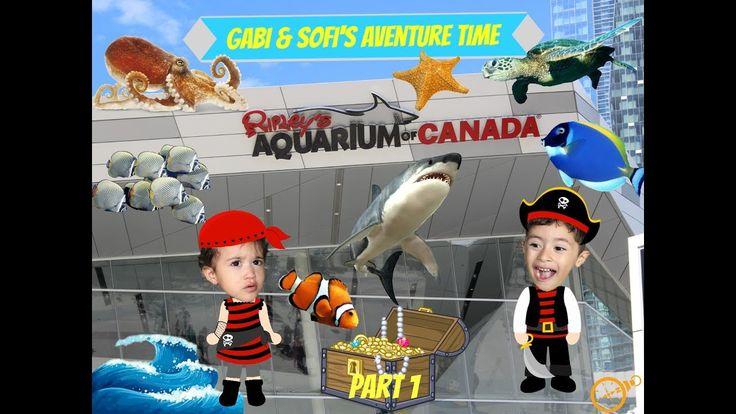 Gabi and Sofi's Adventure time Ripley's Aquarium of Canada Part 1 VLOG
