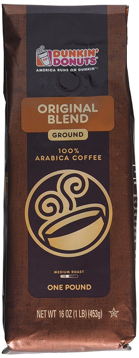 Dunkin Donuts Ground Coffee  Original Blend, 1lb >> For Morermation
