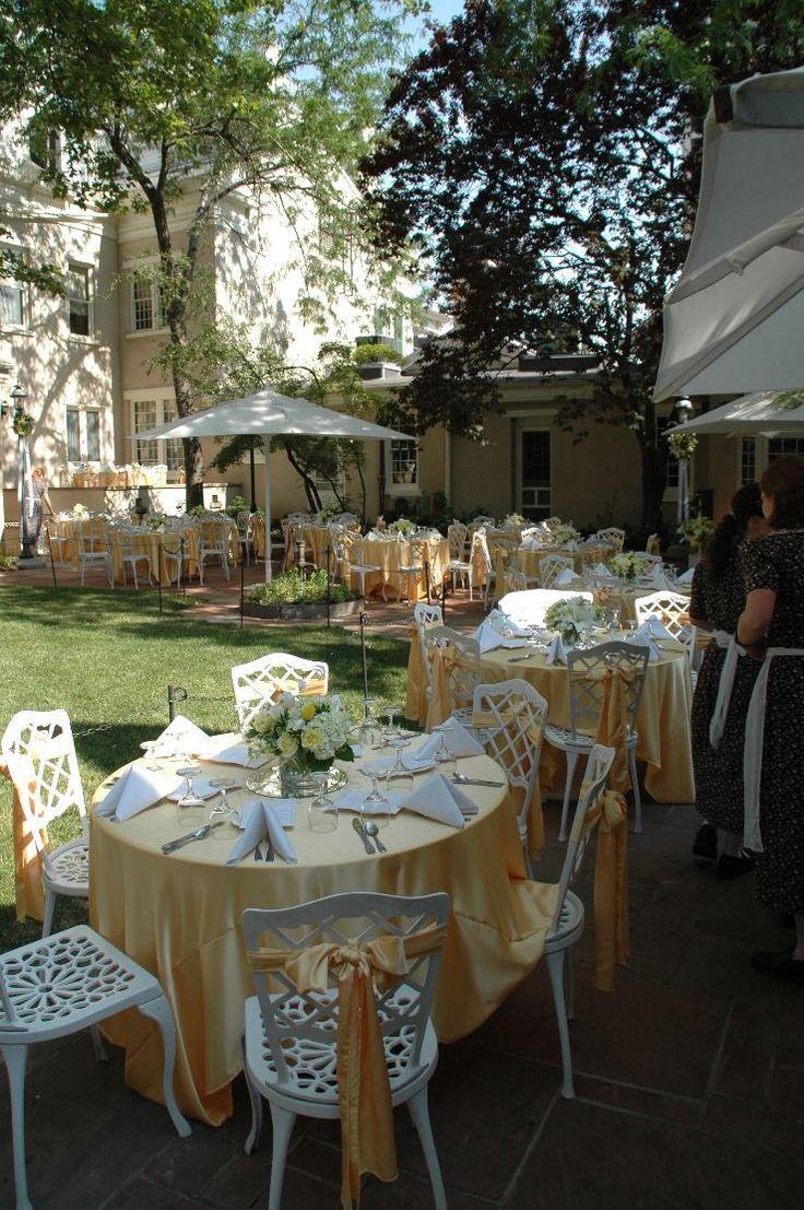 Lion house garden templesquare venue wedding yellow for Garden room joseph smith building