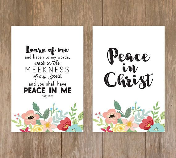 2018 LDS Youth Theme Printable Set -- Peace in Christ -- Large Set, easy to print & use... perfect for New Beginnings & more!! --------------------------------------------- SET INCLUDES: -Banners -Bookmarks -Circles -Scripture Prints -Binder Covers -Binder Spines