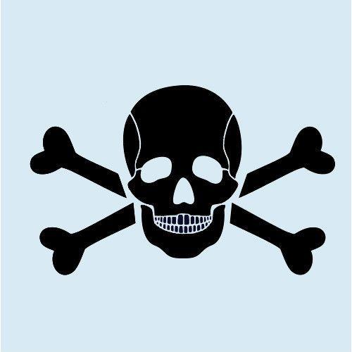 Skull Stencil Bone Stencils Cross Bones Template Skeleton Templates New Craft | eBay