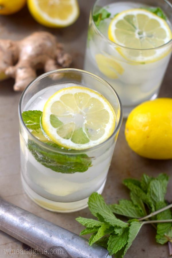 Lemon Ginger Mojito The Refreshing Flavors Of Lemon Ginger And Mint In A Delicious Mojito Ginger Mojito Mojito Basil Simple Syrup