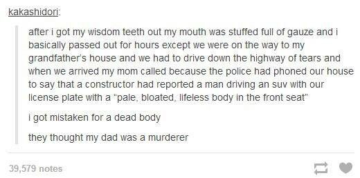 i've had my wisdom teeth removed, and i can  concur that this could very well happen