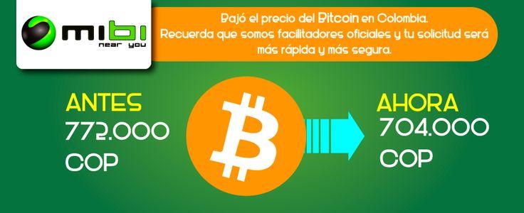 Hoy! Precio Bitcoin baja a 704.000 mil pesos, Antes 722.000 mil pesos.