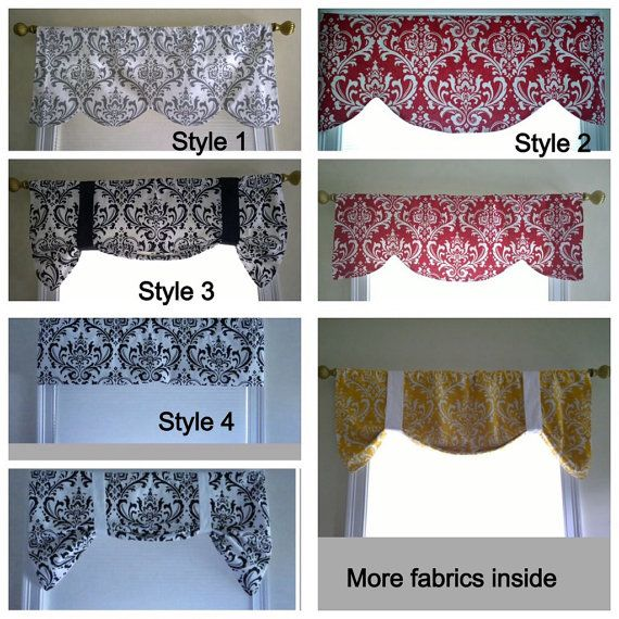 window valance black and white window valance by CoolRoomDecor