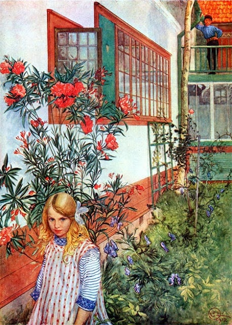 Carl Larsson Beautiful light and color in these garden and interior scenes by Carl Larsson.