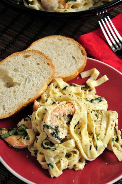 Shrimp Fettucinni Alfredo by thecandidappetite #Pasta #Shrimp #Alfredo