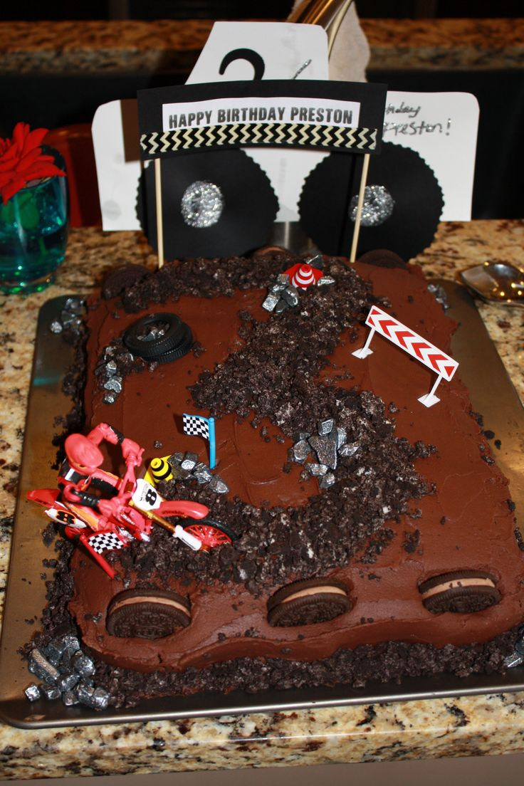 dirt bike cake/ Motocross cake/ moto/ dirtbike/ atv/ birthday