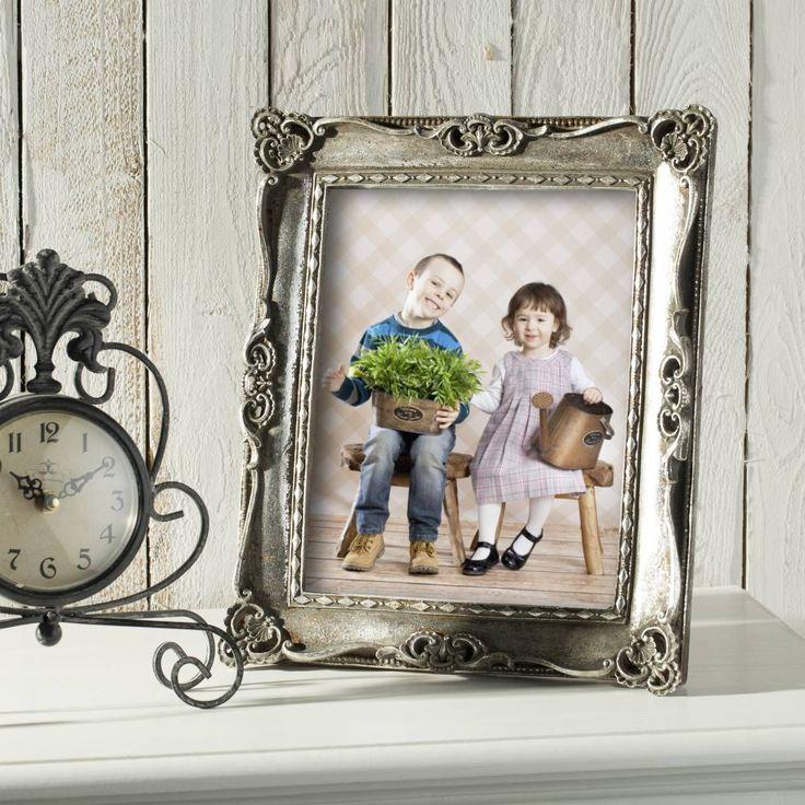 #ramka #photo #picture #frames #family #decoration #home #dekoracje Ramka Klarysa 33x28cm silver, 33x28cm - Dekoria