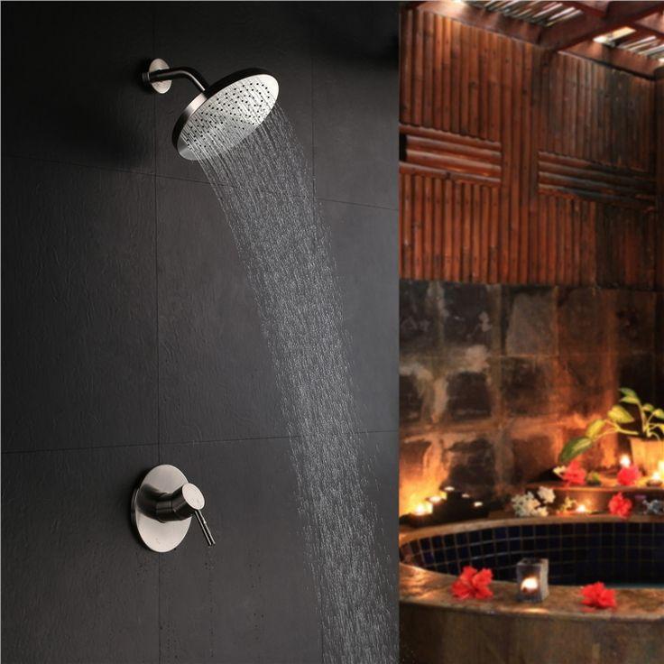 埋込形シャワー水栓 レインシャワーヘッド バス蛇口 混合栓 ヘッドシャワー 光沢