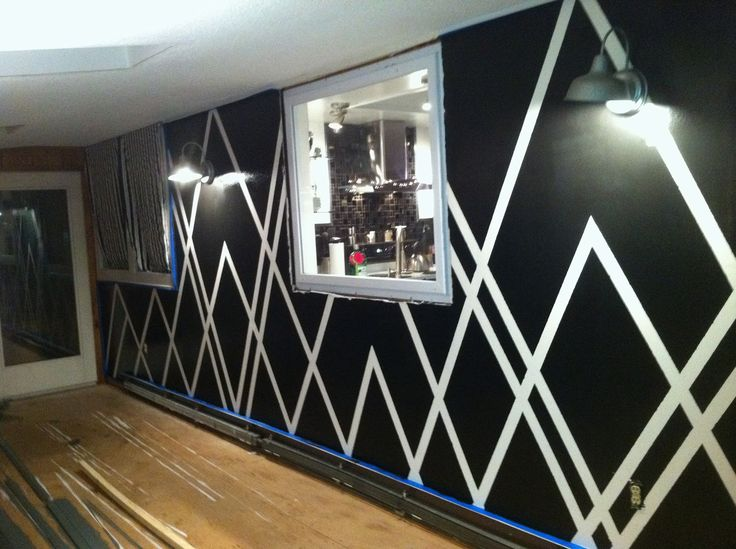 decor4poor painters tape design wall - Paint Tape Design Ideas