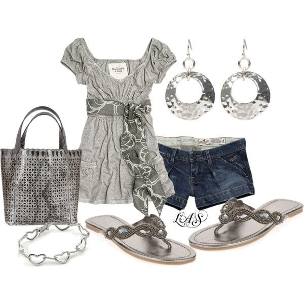 Grey: Clothesand Shoes, Untitl 561, Summer Style, Cute Outfits, Jeans, Abercrombie Clothing, Cute Summer Outfits, Fitch Outfits, Longer Shorts