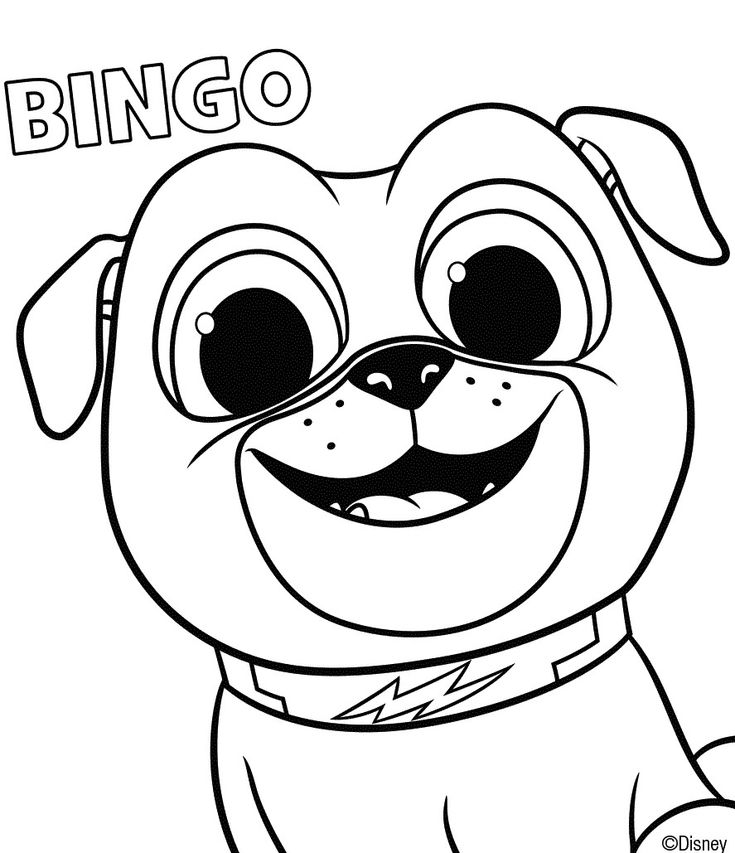 puppy pals coloring page bingo puppy coloring pages