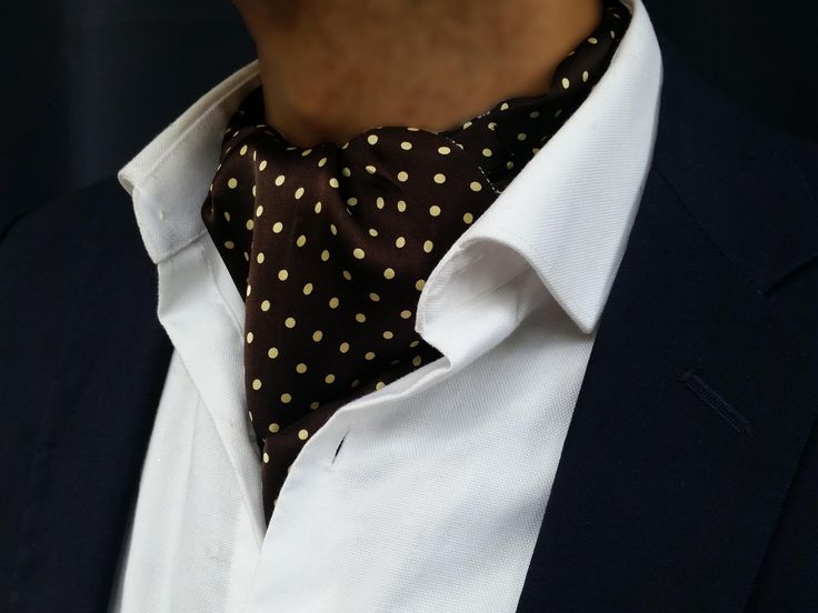 The Brigadier Silk Ascot Reversible (Dots)