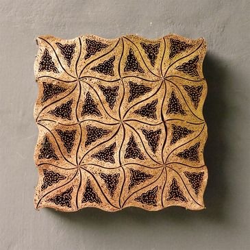blaxsand - antique copper batik stamps (tjaps)  these beautiful tjaps pronounced 'chops' are used to apply wax during the batik process