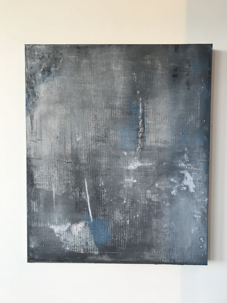 C I N D E R  Blue/ Grey/ Charcoal/ White #textured #artwork #paintings #decor #wall #art #blue #grey #white