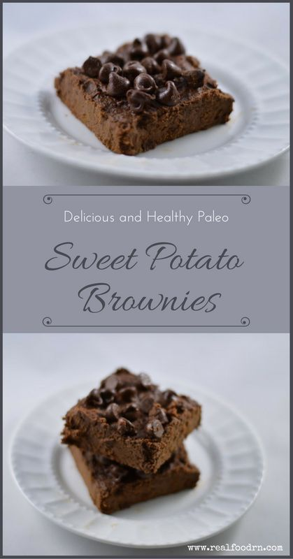 Delicious and Healthy Paleo Sweet Potato Brownies. These little buggers are loaded with vitamins, minerals, and antioxidants! Go ahead, have one for breakfast. #brownies #sweetpotatoes
