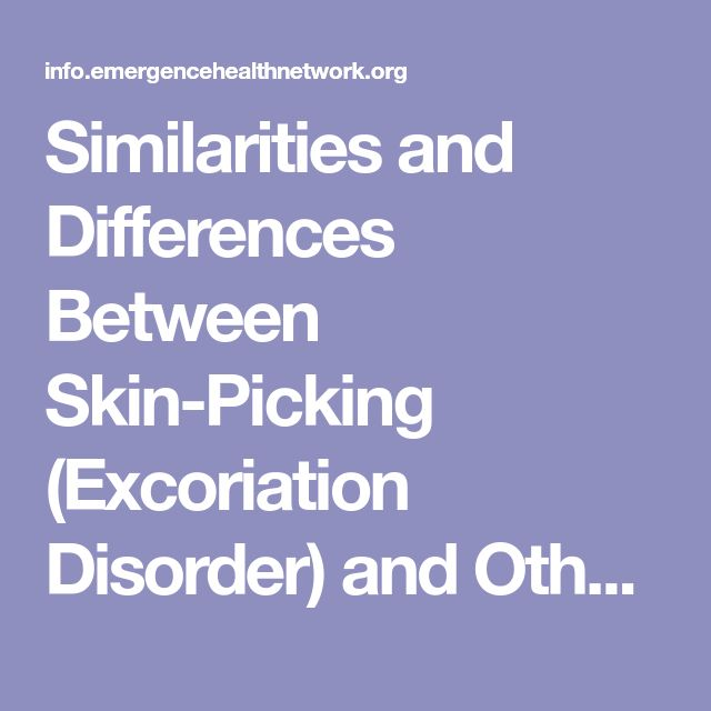 Similarities and Differences Between Skin-Picking (Excoriation Disorder) and Other Obsessive-Compulsive Disorders - Obsessive-Compulsive Spectrum Disorders
