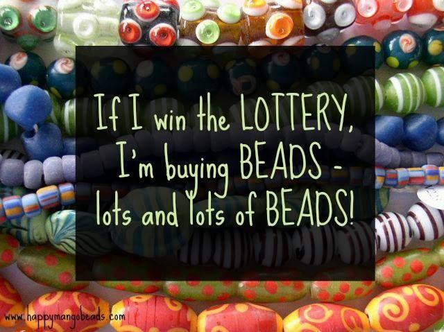 If I win the Lottery..www.happymangobeads.com #handmade, #beading #beads