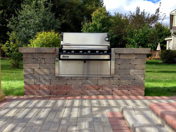 Chicagoland Outdoor Kitchen Grill Surround By Gurnee, IL Patio Builder