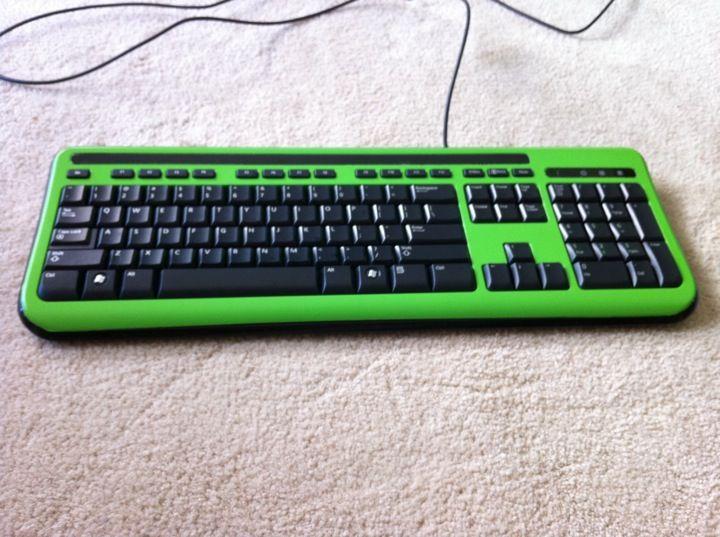 Kawasaki Ninja PC Case, the keyboard