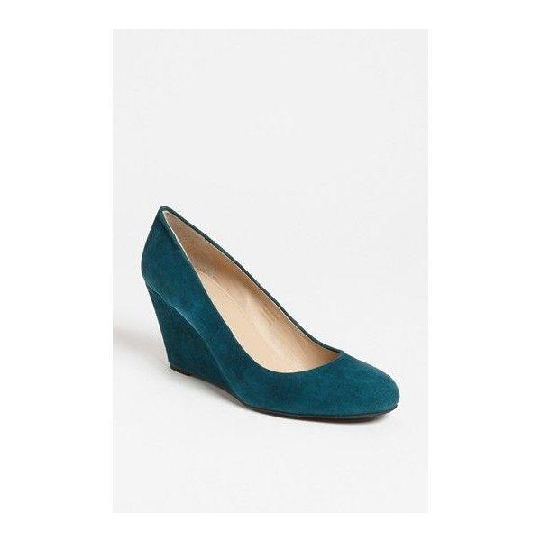 Via Spiga 'Farley' Wedge Pump ❤ liked on Polyvore featuring shoes, pumps, via spiga, via spiga pumps, wedge sole shoes, via spiga shoes and wedge shoes