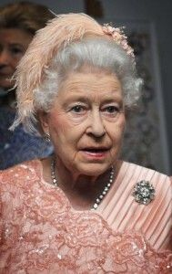 What's a queen to wear when parachuting out of a helicopter during the opening ceremony of the 2012 London Olympics?.