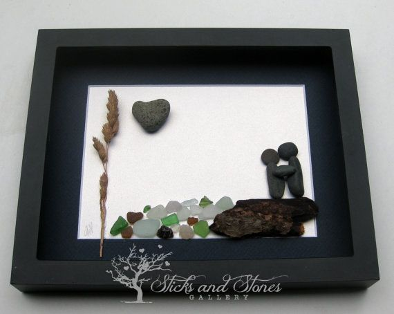 Engagement Gift Unique Engagement Gift Pebble Art by SticksnStone