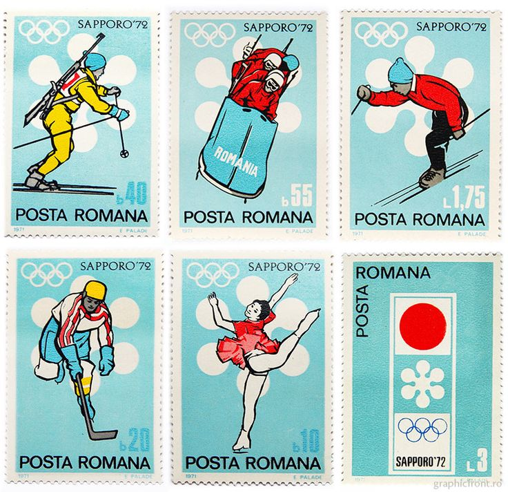 Graphic front - printed matter - stamps - Series of stamps for sports events