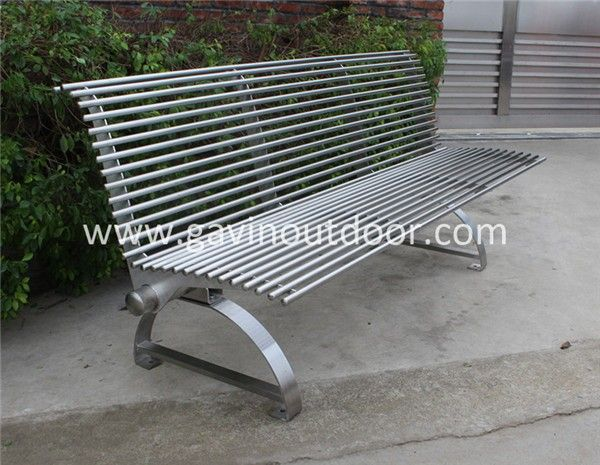 Modern Metal Bench For Park Stainless Steel Park Bench