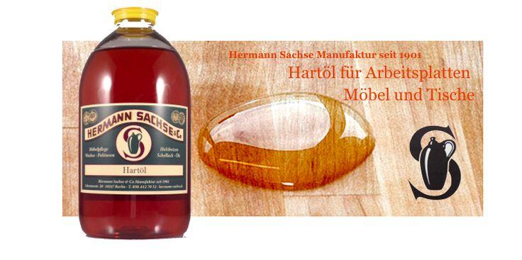 Hartöl für Arbeitsplatten, Möbelöl, Arbeitsplattenöl, das Hermann Sachse Naturöl für den Schutz vor Feuchtigkeit und Schmutz mit einem Naturöl!