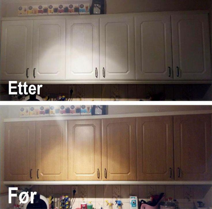 HOW TO: Hvordan montere kontaktplast på profilerte kjøkkenskap ✨ Se monteringsvideo, tips og bilder