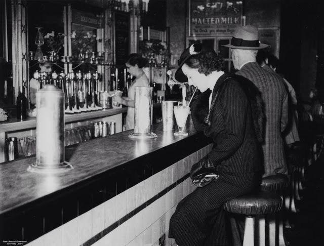 The Regent Theatre Milk Bar, Brisbane, Australia, c. 1936.