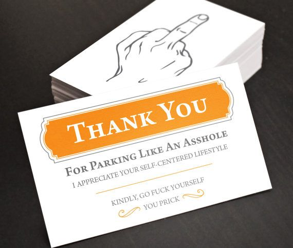 """Stocking Stuffer!! Bad Parking, Funny, Hilarious Joke Business Cards!! Gag Gift, Birthday Gift. 30 business cards - 3.5"""" x 2"""""""