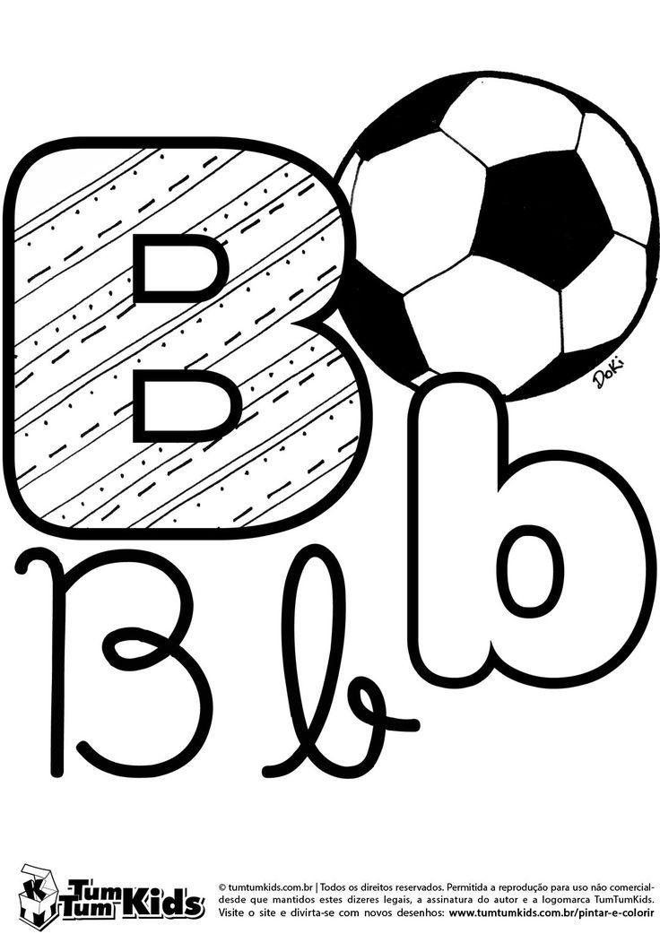 Letra B de Bola | TumTumKids Pintar e Colorir