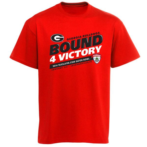 Georgia Bulldogs 2014 Gator Bowl Bound For Victory T-Shirt - Red - $9.99