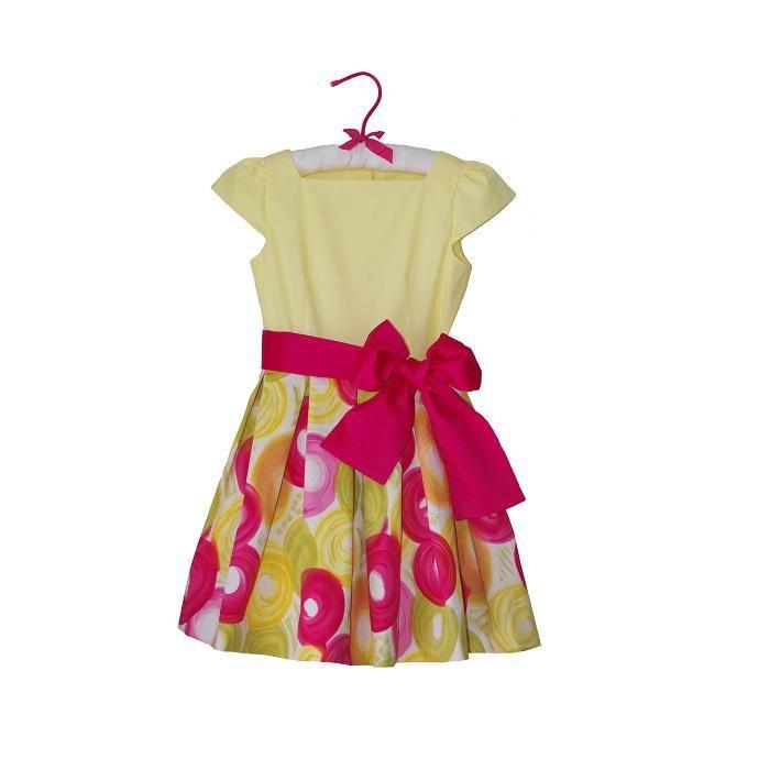 Rochie din bumbac imprimat cu cerculete