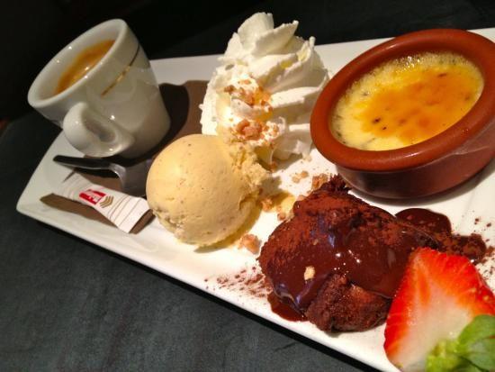 Caf gourmand restaurant grill le parisien sur mon french food pinterest - Assiette rectangulaire pour cafe gourmand ...