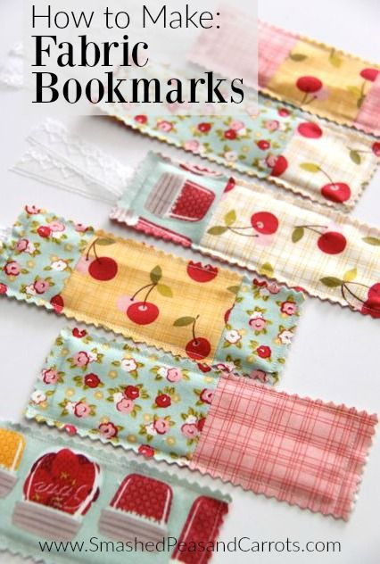 How to Make Fabric Bookmarks // SmashedPeasandCarrots.com // Fabric: Farm Girl designed by October Afternoon for Riley Blake Designs #iloverileyblake