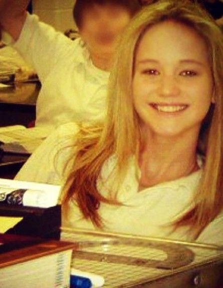 young Jennifer Lawrence at school.