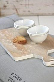 HK Living Broodplank rechthoek wit - Medium | Nieuw....HK Living | Label 123