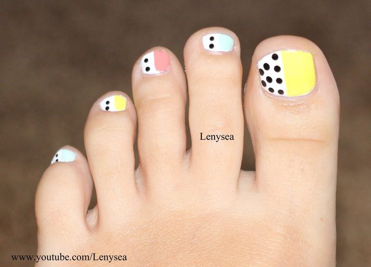 179 best toes images on pinterest nail scissors nail decorations easy toe nail design for beginners pastels and polka dots easy toe nails diy solutioingenieria Choice Image