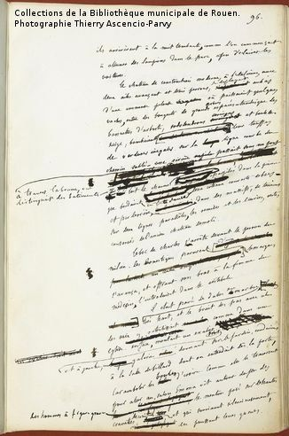 Manuscrit de Gustave Flaubert - Madame Bovary  www.artexperiencenyc.com