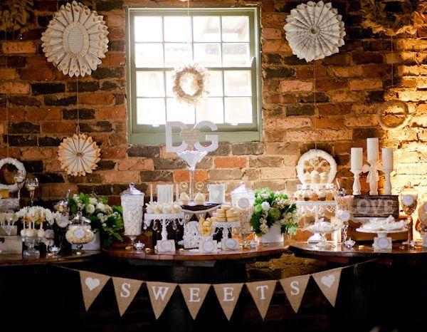 Wedding Dessert Table Inspiration Candy Buffet Wedding Wedding