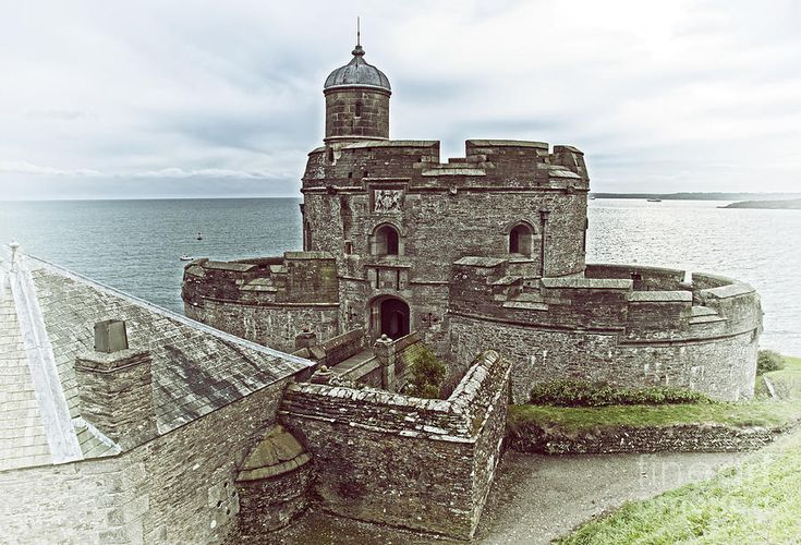 St Mawes Castle Cornish Coast Photograph by Melody and Michael Watson - St Mawes Castle Cornish Coast Fine Art Prints and Posters for Sale
