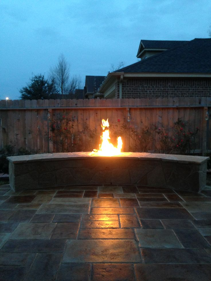 15 best images about stamped concrete patios on pinterest for Fire pit on concrete slab