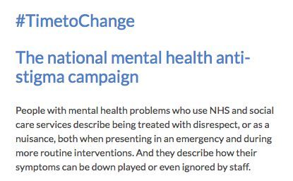 Read about the #TimeToChange Campaign